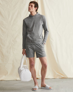 Garment Dyed French Terry Short in Heather Grey - 35 - Onia