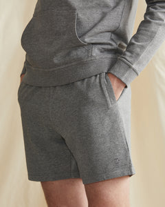 Garment Dyed French Terry Short in Heather Grey - 32 - Onia