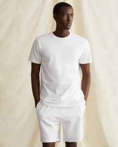 Garment Dyed French Terry Short in White - 17 - Onia