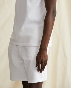 Garment Dyed French Terry Short in White - 18 - Onia