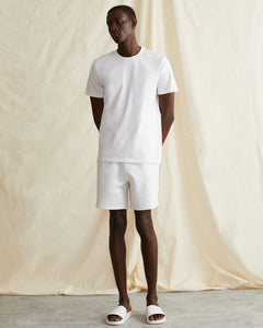 Garment Dyed French Terry Short in White - 20 - Onia