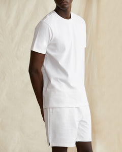 Garment Dyed Jersey Crewneck Tee in White - 3 - Onia