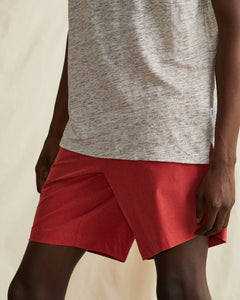 Versatility Stretch Chambray Short in Clay - 7 - Onia