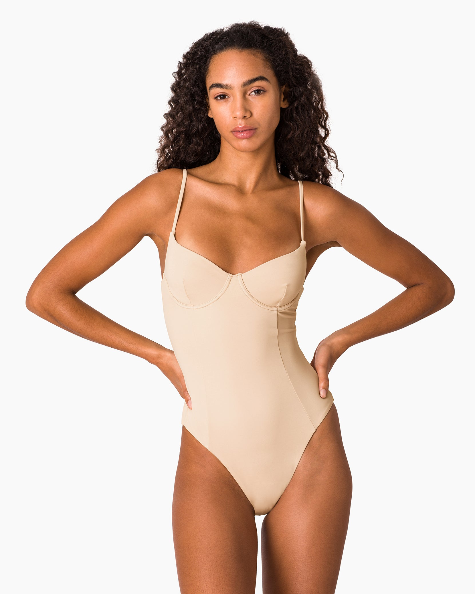 Isabella High Leg One Piece in Nude - 3 - Onia