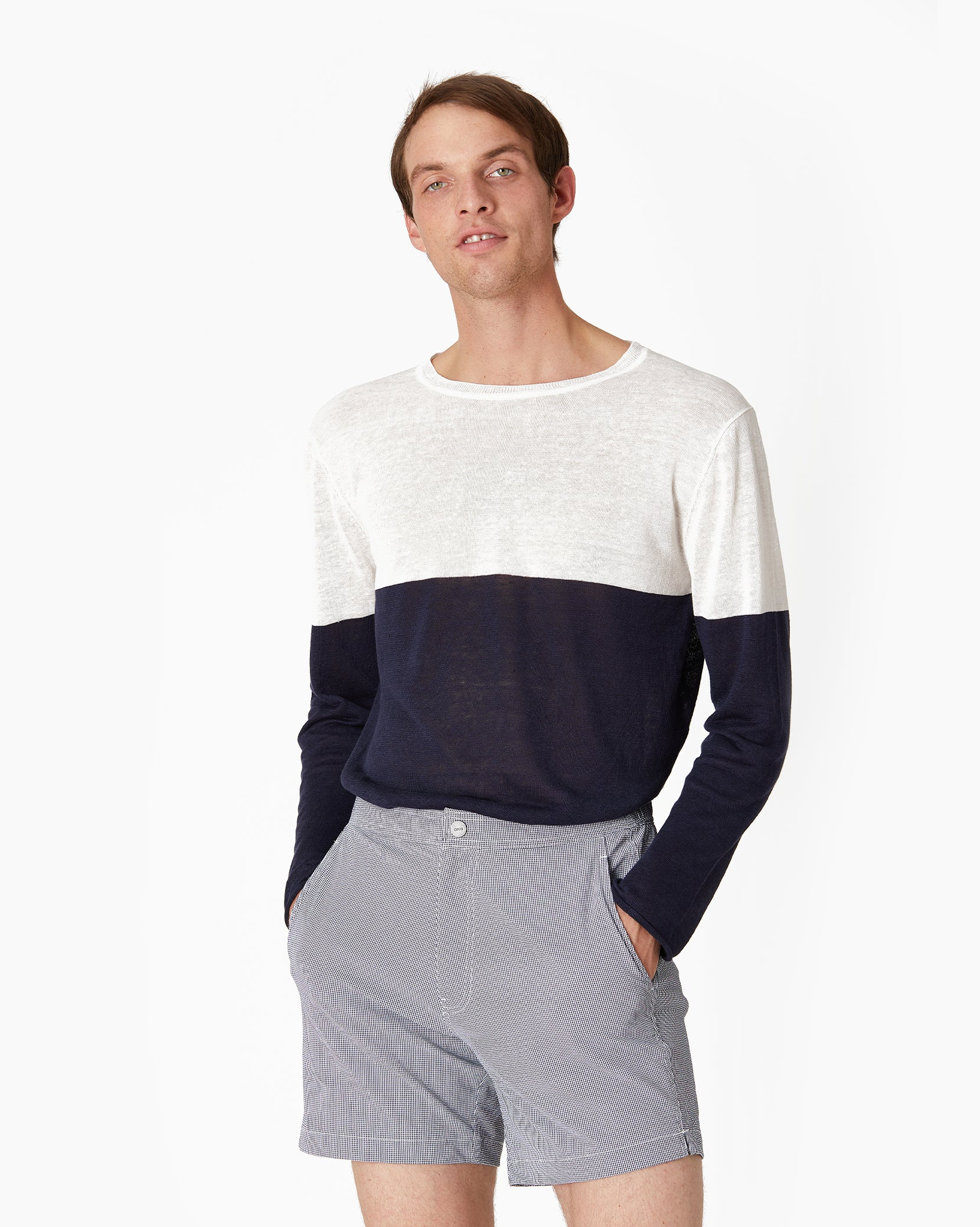 Kevin Crewneck Sweater in Deep Navy - 3 - Onia