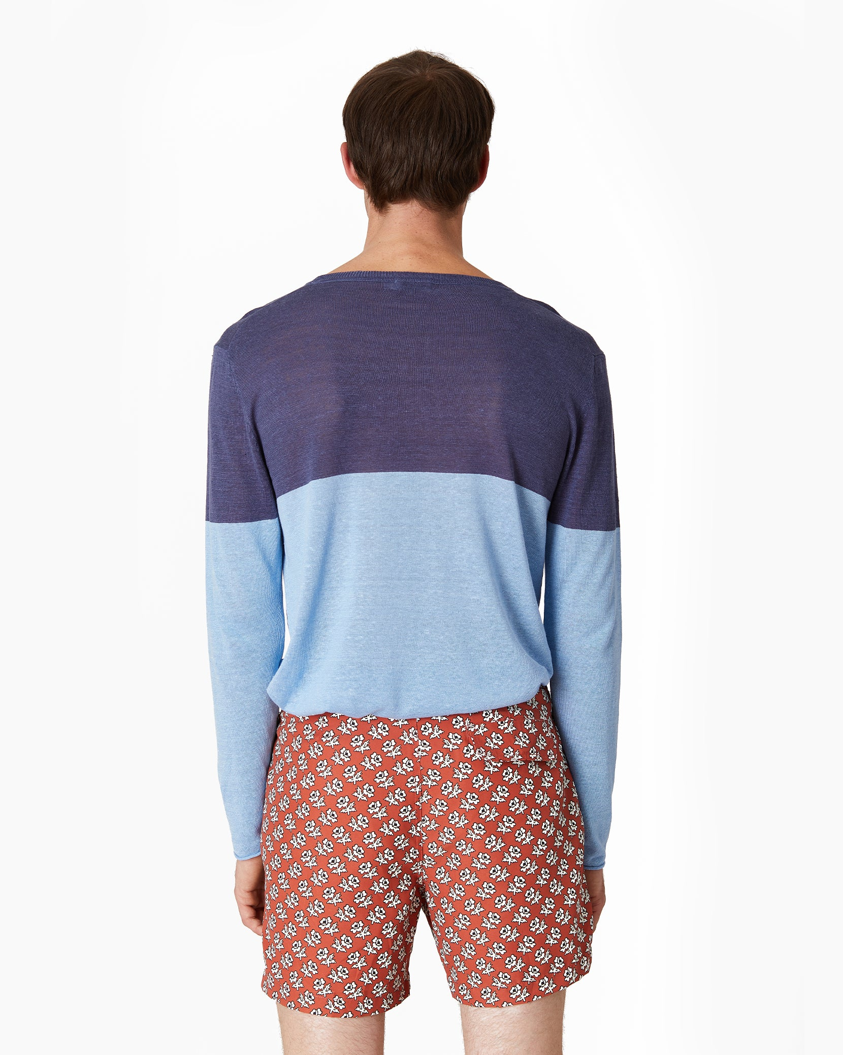 Kevin Crewneck Sweater in Safari Sky - 9 - Onia