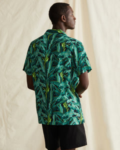 Vacation Ratti Banana Leaves Shirt in Leaf Green - 4 - Onia