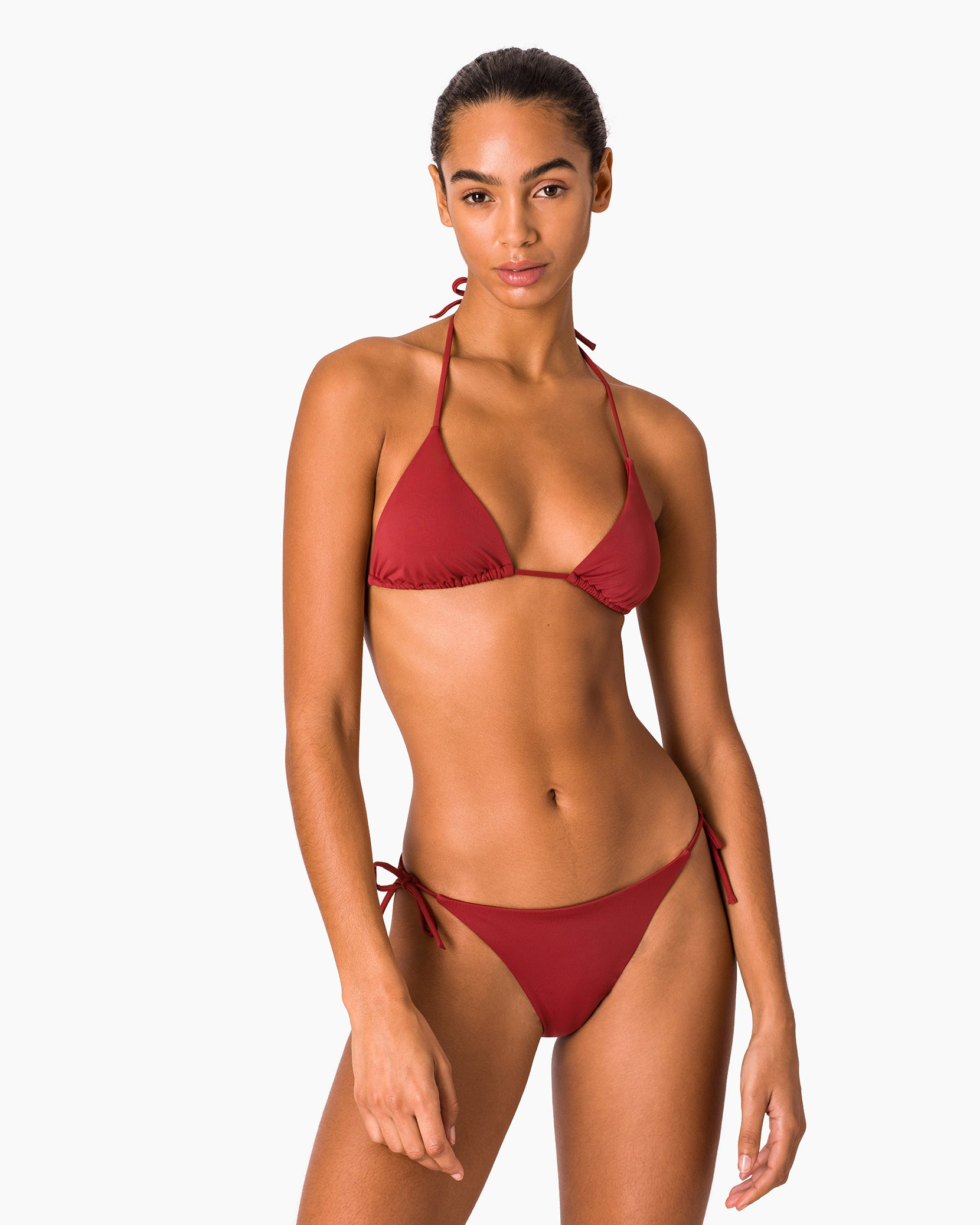 Megan Bikini Top in Deep Red - 6 - Onia