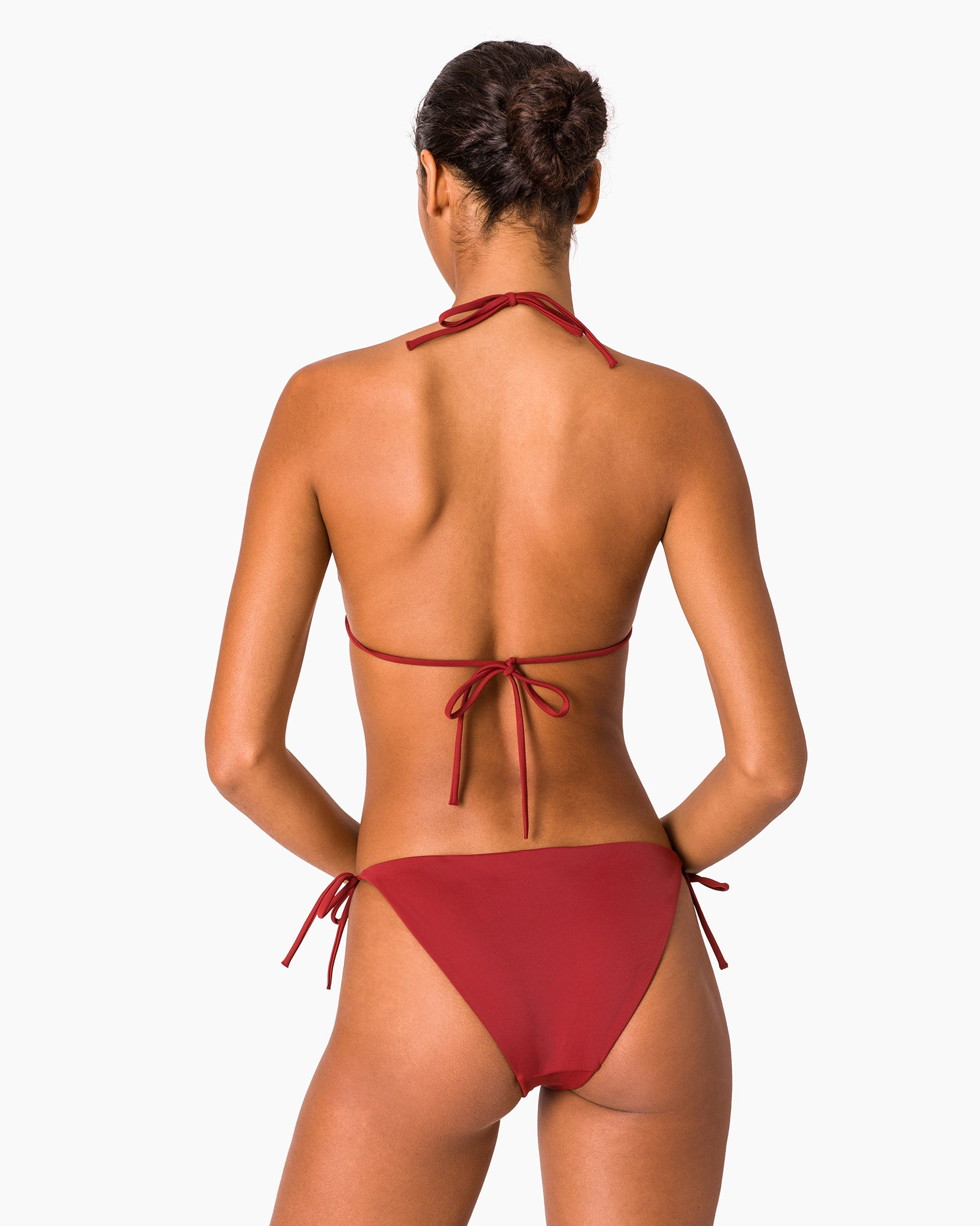 Kate Bikini Bottom in Deep Red - 4 - Onia
