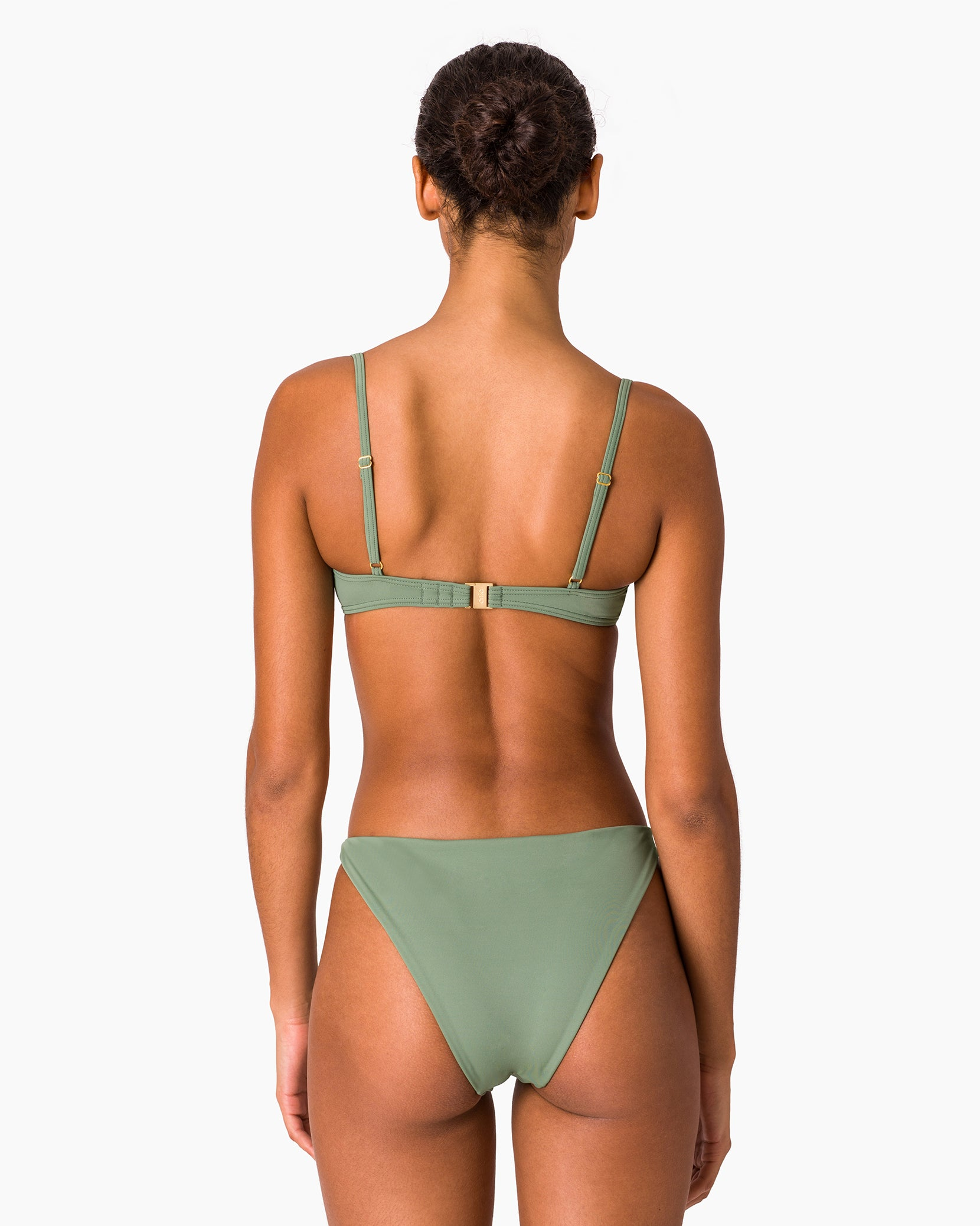 Dalia Bikini Top in Army Green - 8 - Onia