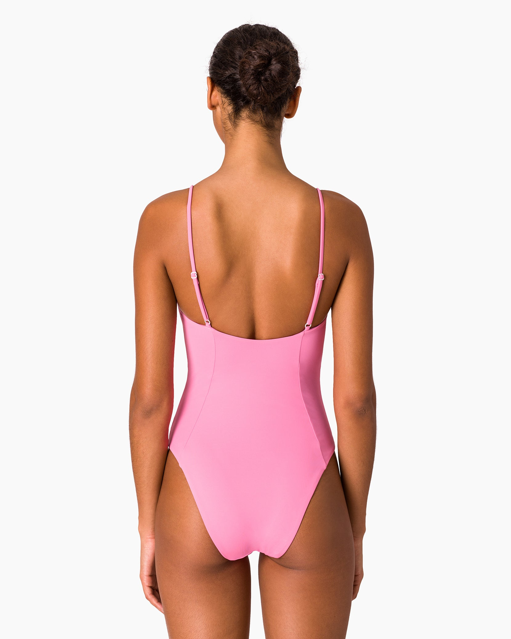 Isabella High Leg One Piece in Bubblegum - 9 - Onia