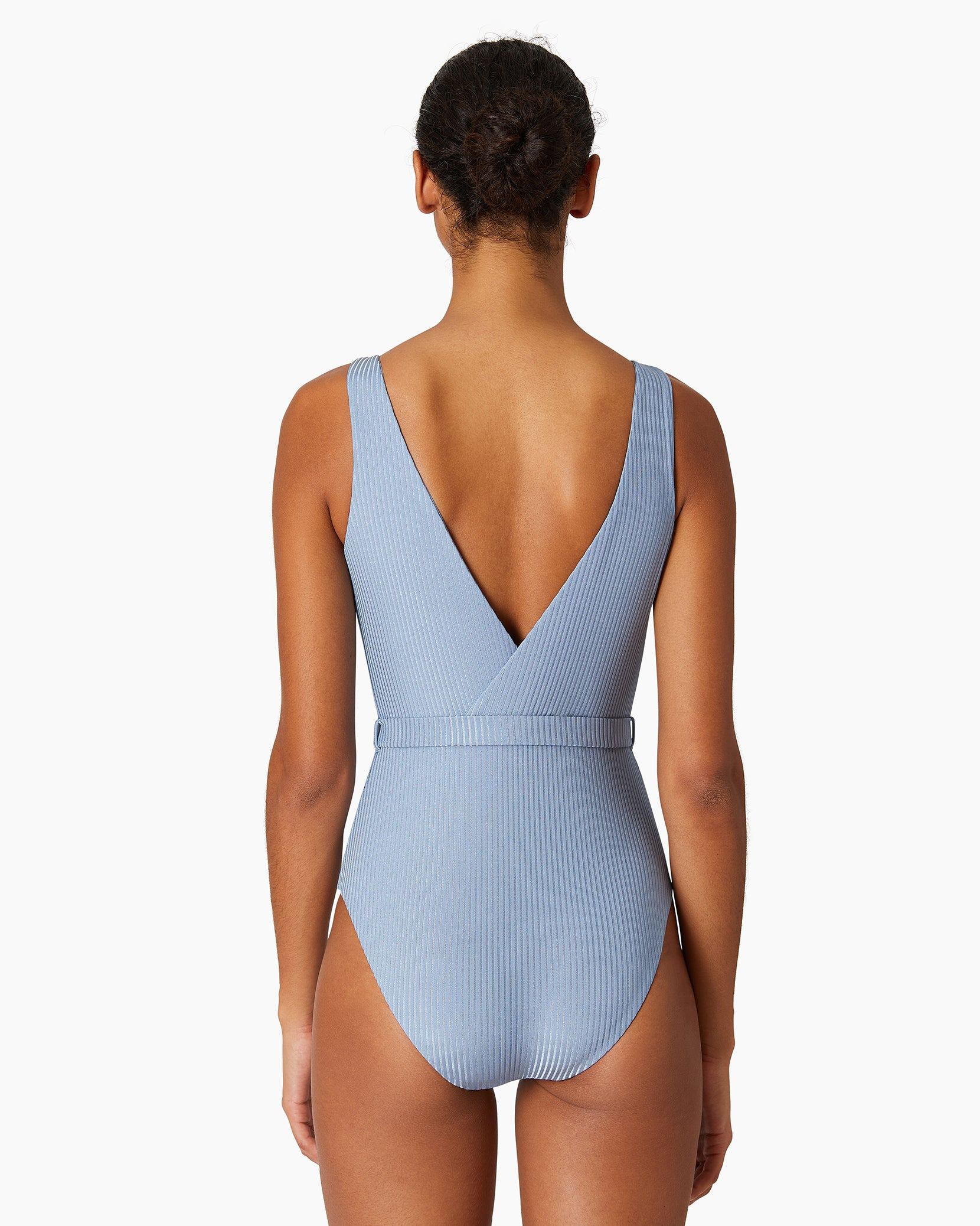 Shimmer Rib Michelle One Piece in Captain Blue - 3 - Onia