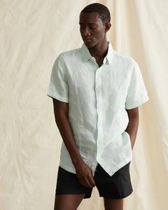 Samuel Chambray Shirt in Cool Mint - 2 - Onia