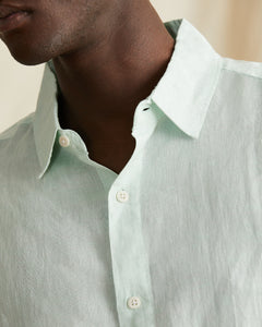 Samuel Chambray Shirt in Cool Mint - 3 - Onia