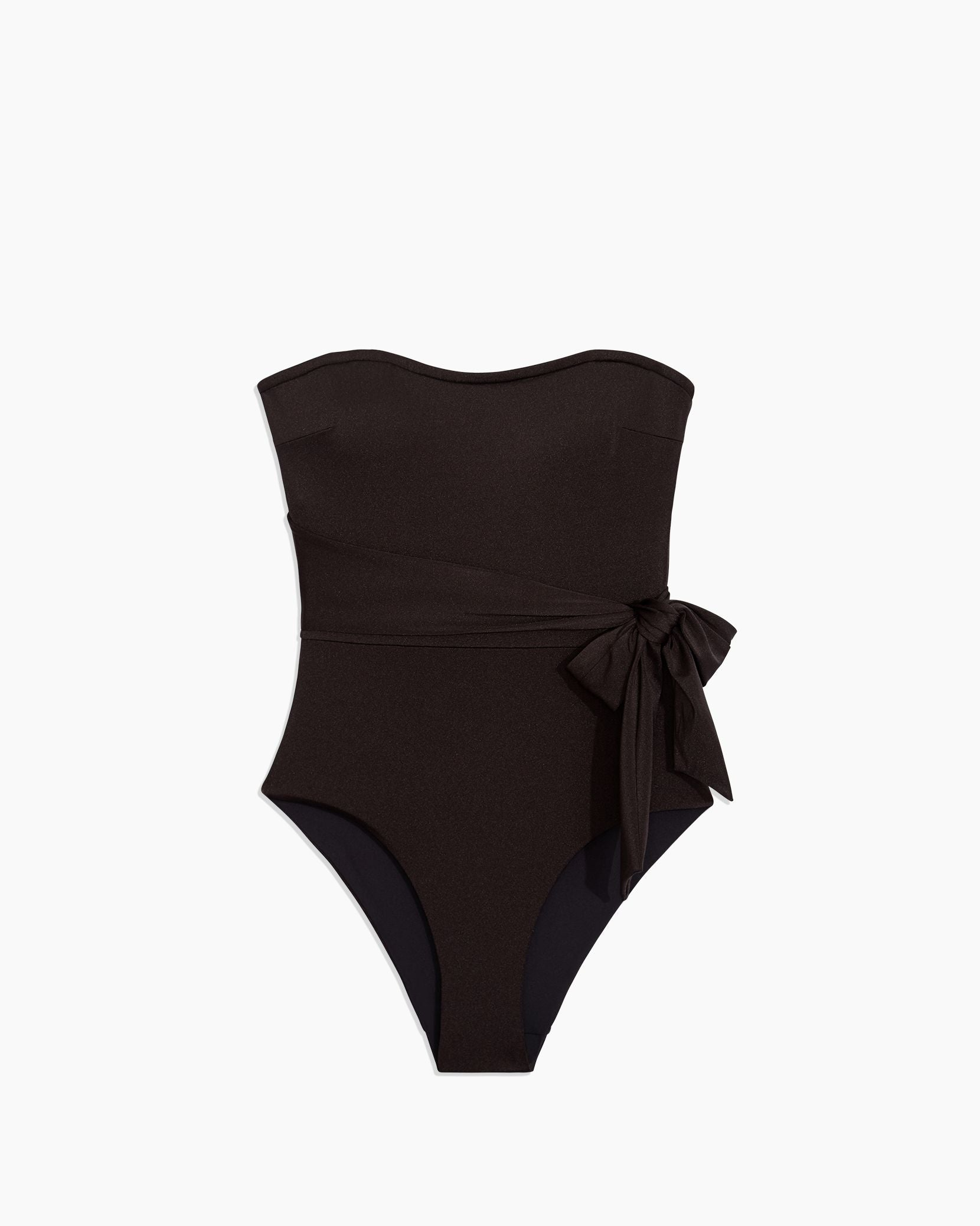 Charlotte One Piece in Metallic Solid Black - 6 - Onia