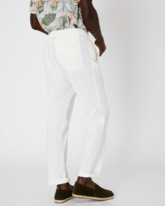 Collin Linen Pant in White - 14 - Onia