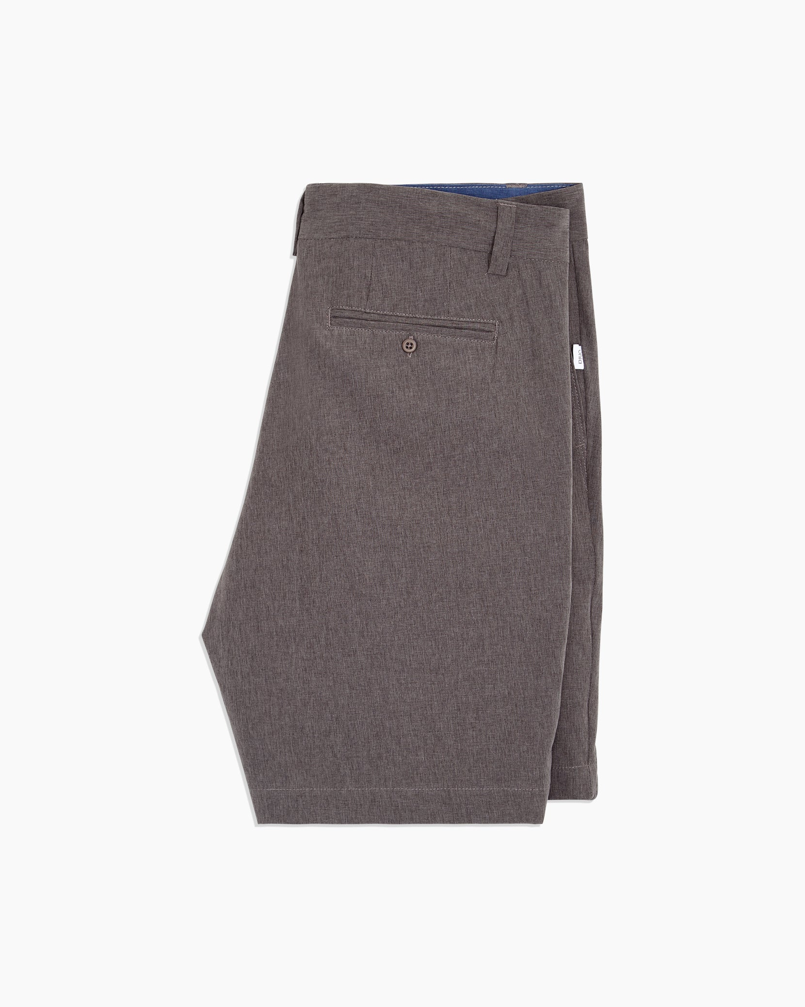 Versatility Stretch Chambray Short in Charcoal - 14 - Onia