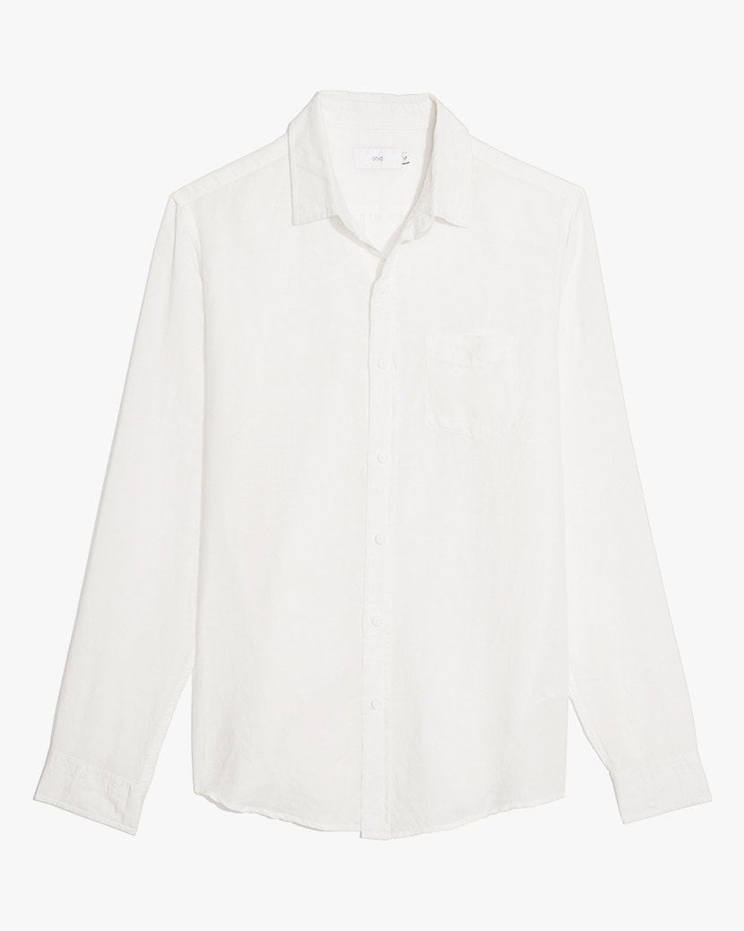 Abe Linen Shirt in White - 2 - Onia