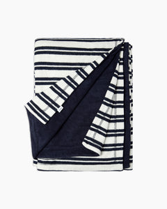 Terry Reversible Beach Towel in Deep Navy - 3 - Onia