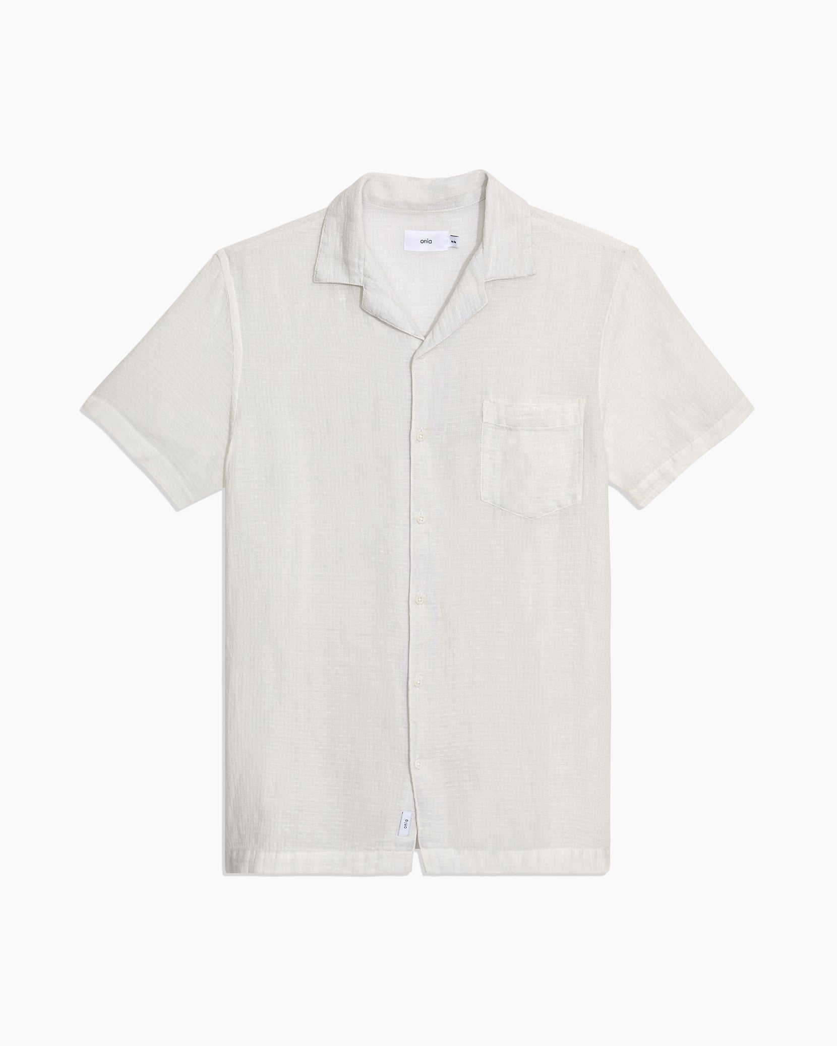 Vacation Checked Dobby Shirt in White - 1 - Onia