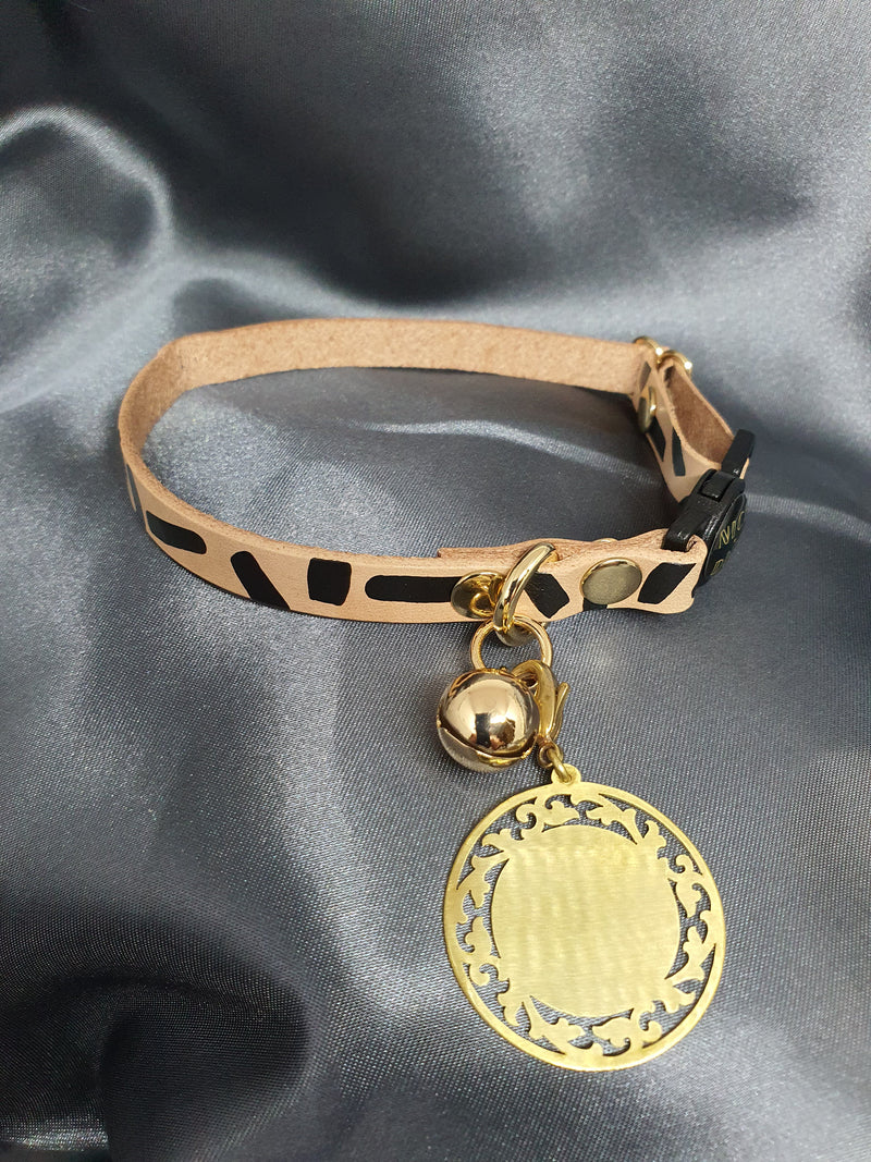 ID TAG - FLORENTINE - INDIVIDUALLY HANDMADE BRASS DOG/CAT ID TAG