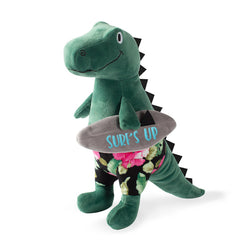 Fringe Studio SURFER BRO SURFING T-REX PLUSH SQUEAKER DOG TOY