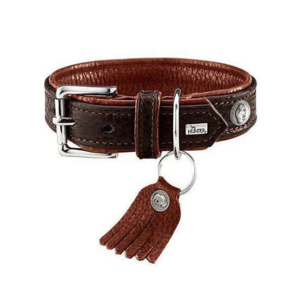 CODY LEATHER DOG COLLAR - DARK BROWN