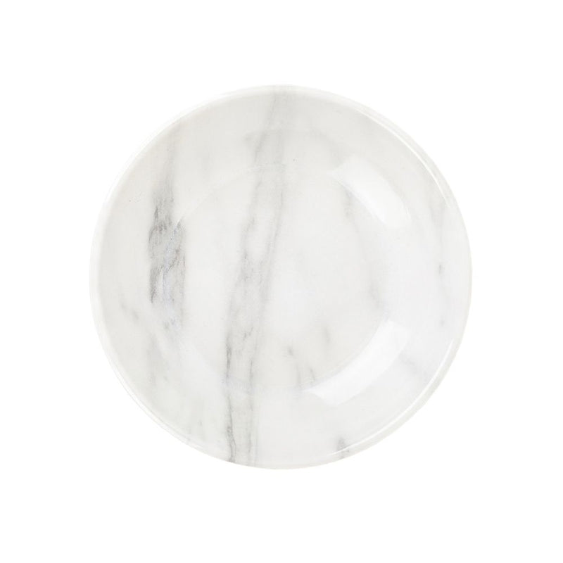 Barkley And Bella White Marble Saucer