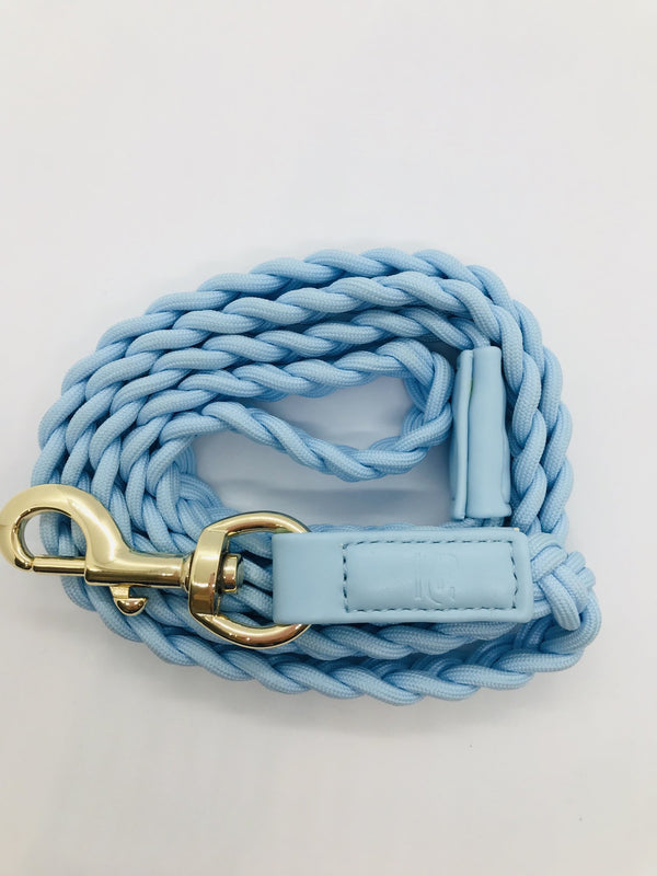 PLAITED LEASH - CLOUD BLUE