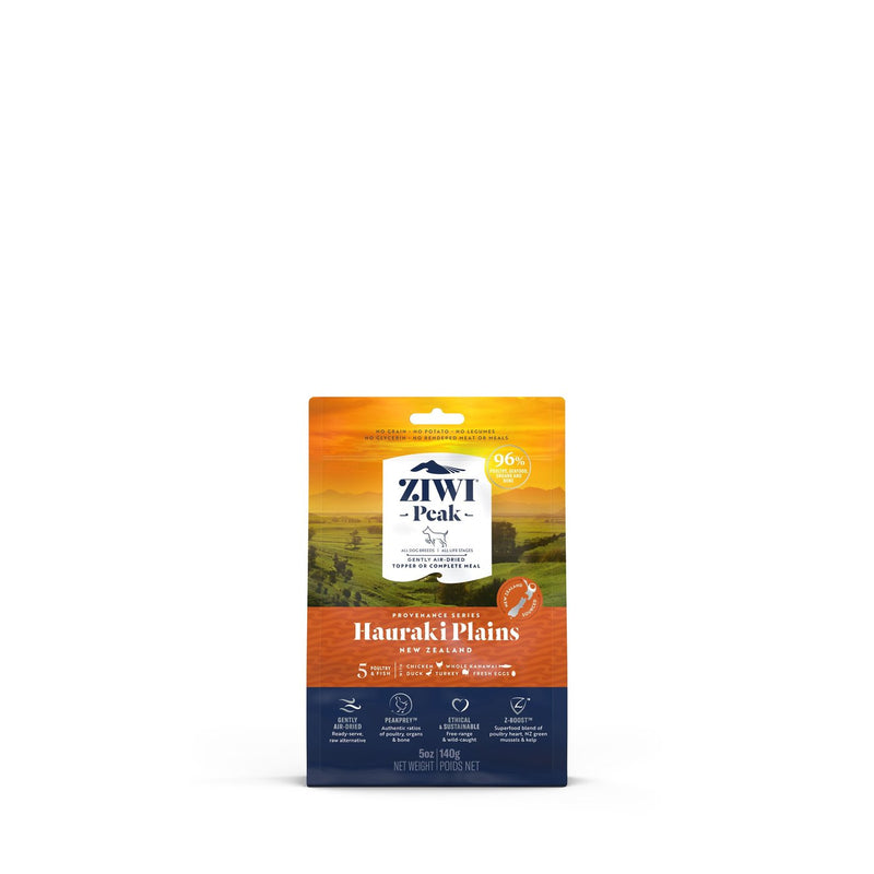 ZIWI PEAK AIR DRIED PROVENANCE DOG FOOD HAURAKI PLAINS 140 GM