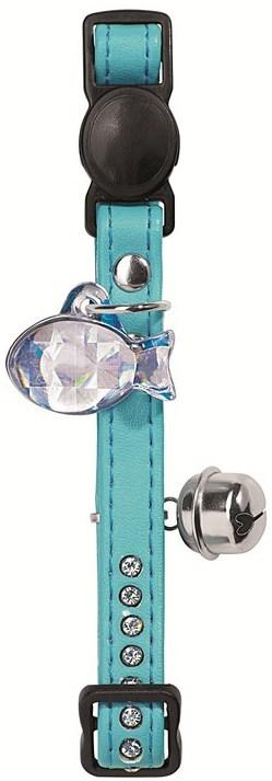 HUNTER INTERNATIONAL MODERN ART LUXUS CAT  COLLAR - TURQUOISE
