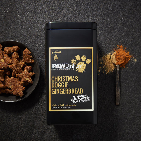 CHRISTMAS DOGGIE GINGERBREAD TIN 350G