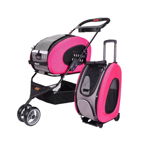 IBIYAYA EVA 5-IN-1 COMBO PET CARRIER HOT PINK