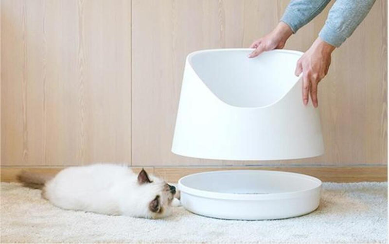 PIDAN SNOW MOUNTAIN CAT LITTER BOX WHITE