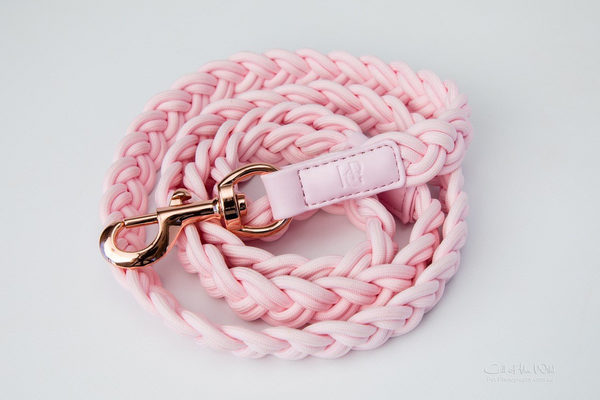 PLAITED LEASH - PINK