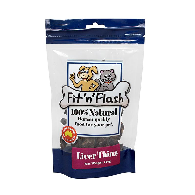 FIT 'N' FLASH LIVER THINS 100G