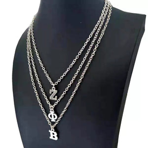 Zeta Phi Beta Initial Necklace