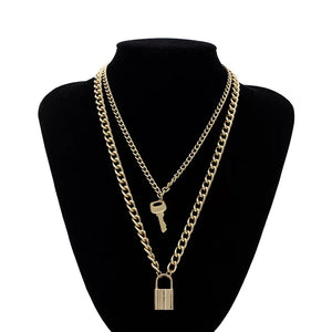 Lock & Key Layered Necklace