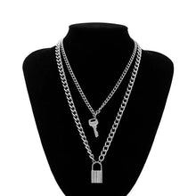 Load image into Gallery viewer, Lock & Key Layered Necklace