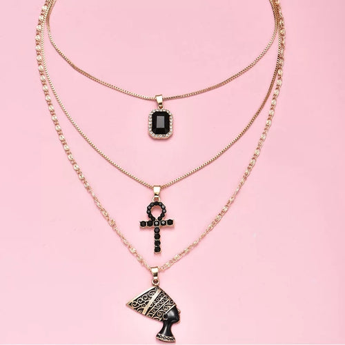 Onyx Layered Necklace