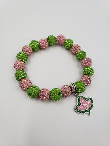 Alpha Kappa Alpha Beaded Bracelet