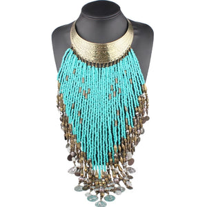 India Beaded Bib Necklace