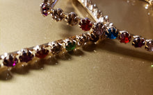 Load image into Gallery viewer, Rainbow Crystal Hoops