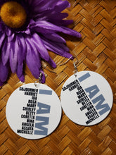 Load image into Gallery viewer, I AM Message Earrings