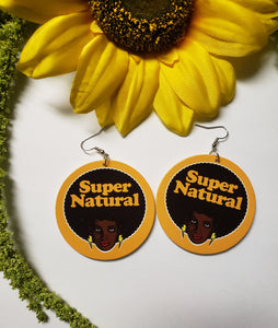 Super Natural Message Earrings