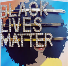 Load image into Gallery viewer, Black Lives Matter Hair Pins