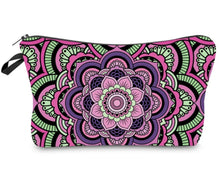 Load image into Gallery viewer, Mandala Print Cosmetic Bag