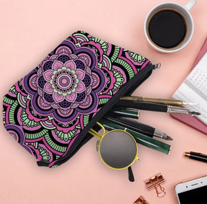 Mandala Print Cosmetic Bag