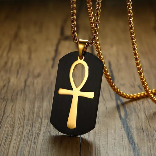 Ankh Tag Necklace