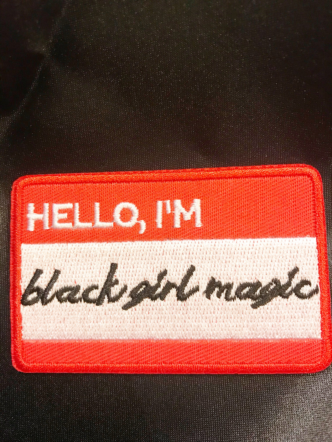 Black Girl Magic Name Tag Patch